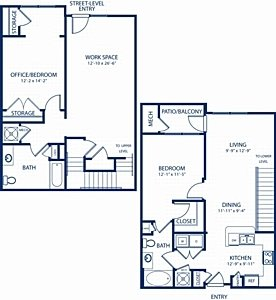 2 Bedrooms 2 Bathrooms Apartment for rent at Camden Dulles Station in Herndon, VA
