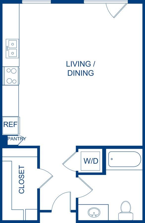 Studio 1 Bathroom Apartment for rent at Camden Belleview Station in Denver, CO