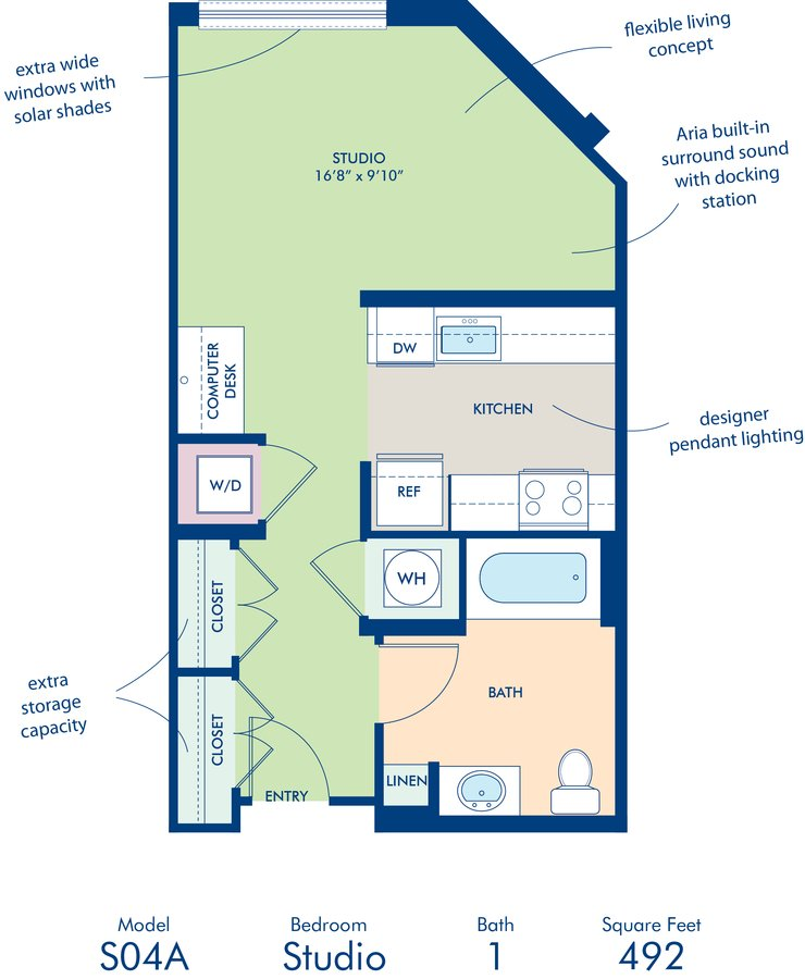 Studio 1 Bathroom Apartment for rent at Camden South Capitol in Washington, DC