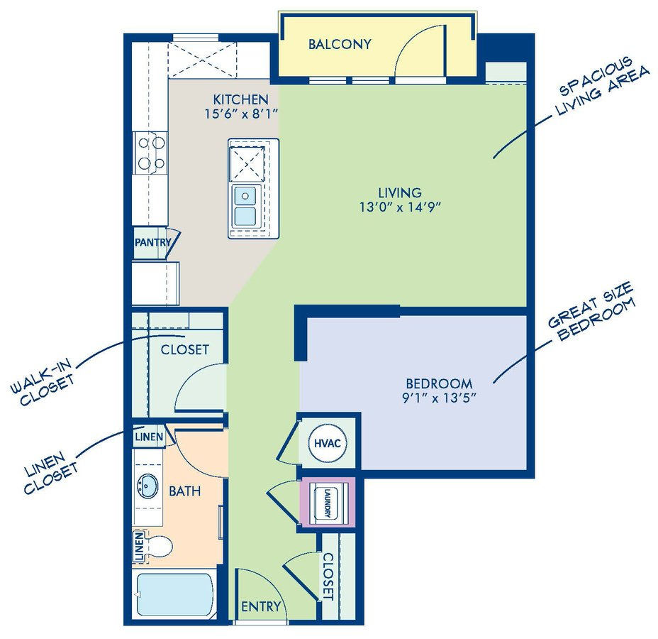 Studio 1 Bathroom Apartment for rent at Camden Southline in Charlotte, NC