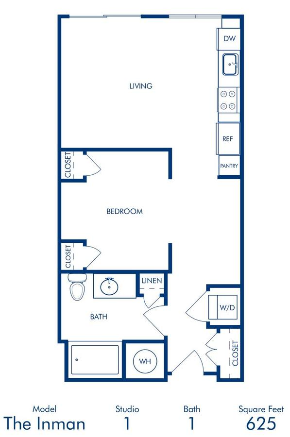 Studio 1 Bathroom Apartment for rent at Camden Buckhead Square in Atlanta, GA