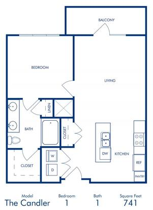 1 Bedroom 1 Bathroom Apartment for rent at Camden Buckhead Square in Atlanta, GA