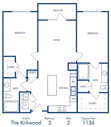 2 Bedrooms 2 Bathrooms Apartment for rent at Camden Buckhead Square in Atlanta, GA