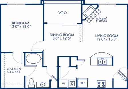 1 Bedroom 1 Bathroom Apartment for rent at Camden Deerfield in Alpharetta, GA