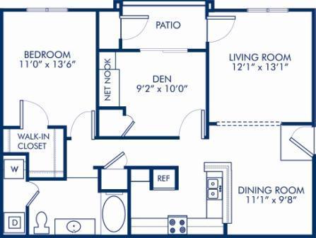 2 Bedrooms 1 Bathroom Apartment for rent at Camden Deerfield in Alpharetta, GA