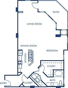 Studio 1 Bathroom Apartment for rent at Camden Grandview in Charlotte, NC