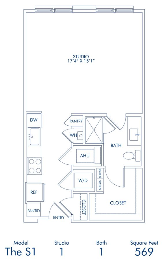 Studio 1 Bathroom Apartment for rent at Camden Washingtonian in Gaithersburg, MD