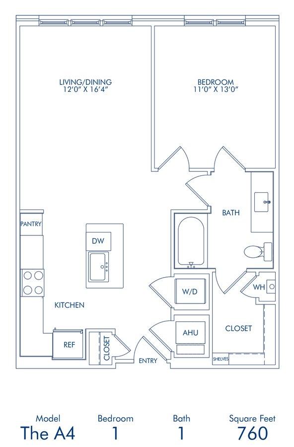 1 Bedroom 1 Bathroom Apartment for rent at Camden Washingtonian in Gaithersburg, MD