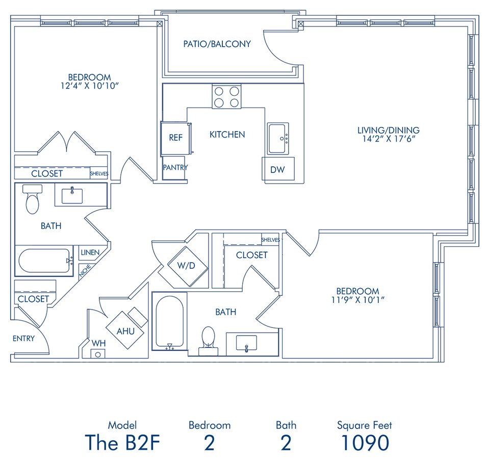 2 Bedrooms 1 Bathroom Apartment for rent at Camden Washingtonian in Gaithersburg, MD
