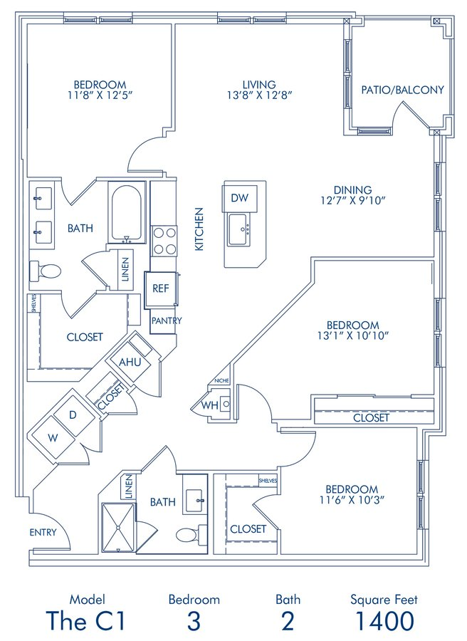 3 Bedrooms 2 Bathrooms Apartment for rent at Camden Washingtonian in Gaithersburg, MD
