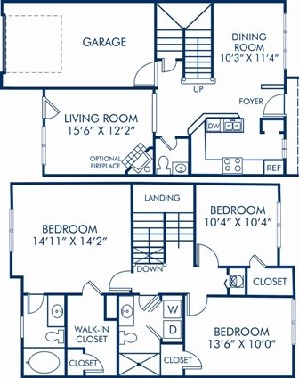 3 Bedrooms 2 Bathrooms Apartment for rent at Camden Overlook in Raleigh, NC