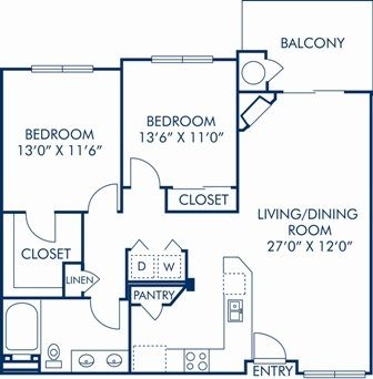 2 Bedrooms 1 Bathroom Apartment for rent at Camden Interlocken in Broomfield, CO