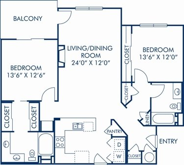 2 Bedrooms 2 Bathrooms Apartment for rent at Camden Interlocken in Broomfield, CO