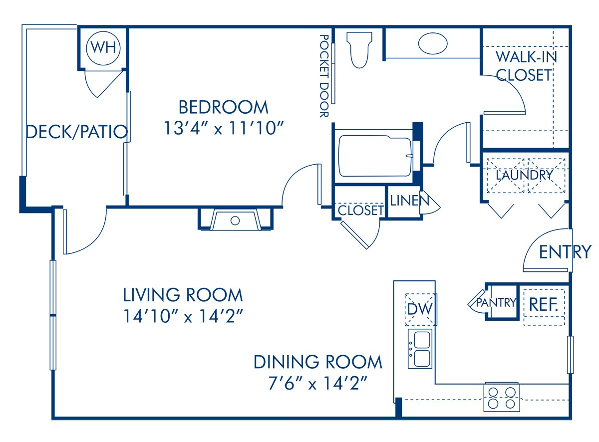 1 Bedroom 1 Bathroom Apartment for rent at Camden Lakeway in Lakewood, CO