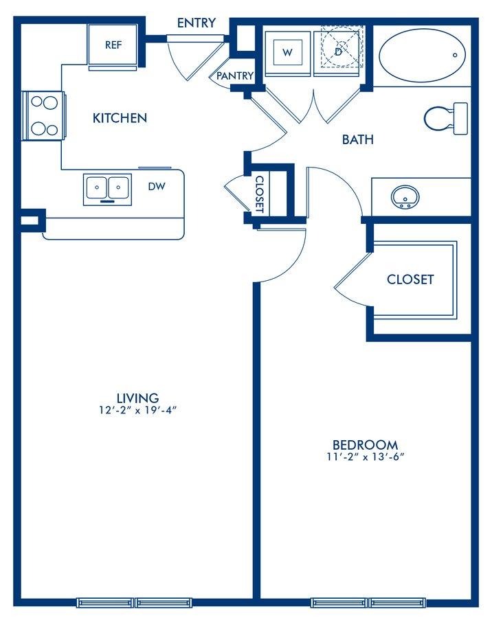 1 Bedroom 1 Bathroom Apartment for rent at Camden Travis Street in Houston, TX
