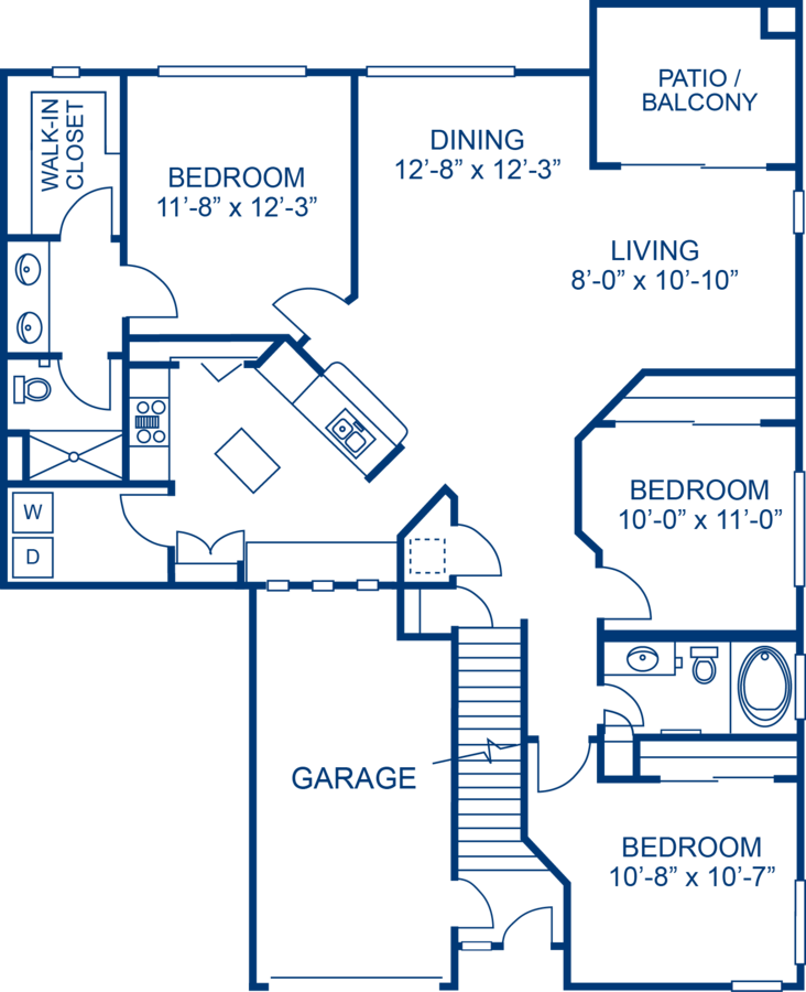 3 Bedrooms 2 Bathrooms Apartment for rent at Camden Legacy in Scottsdale, AZ