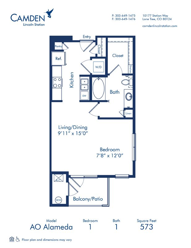 Studio 1 Bathroom Apartment for rent at Camden Lincoln Station in Lone Tree, CO