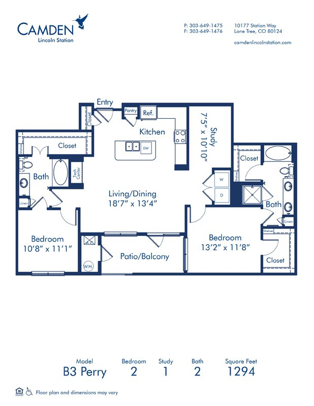 2 Bedrooms 2 Bathrooms Apartment for rent at Camden Lincoln Station in Lone Tree, CO