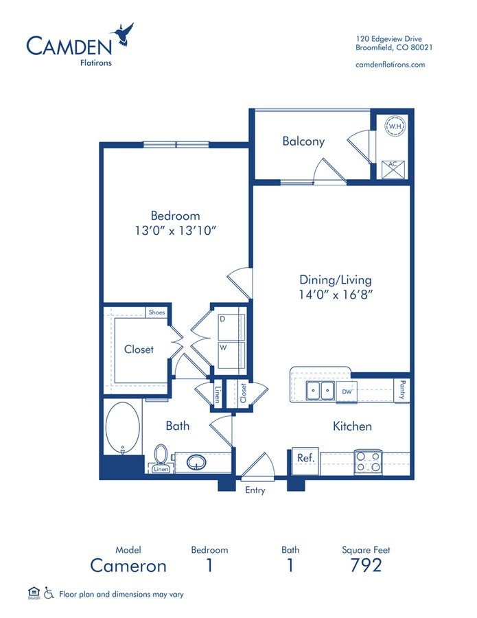 1 Bedroom 1 Bathroom Apartment for rent at Camden Flatirons in Broomfield, CO