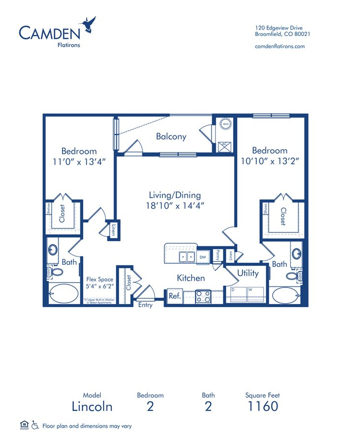 2 Bedrooms 2 Bathrooms Apartment for rent at Camden Flatirons in Broomfield, CO