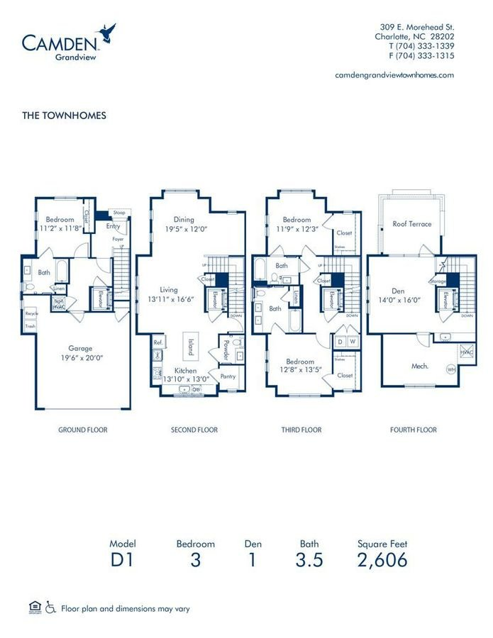 3 Bedrooms 3 Bathrooms Apartment for rent at Camden Grandview in Charlotte, NC