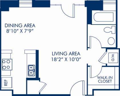 Studio 1 Bathroom Apartment for rent at Camden Roosevelt in Washington, DC
