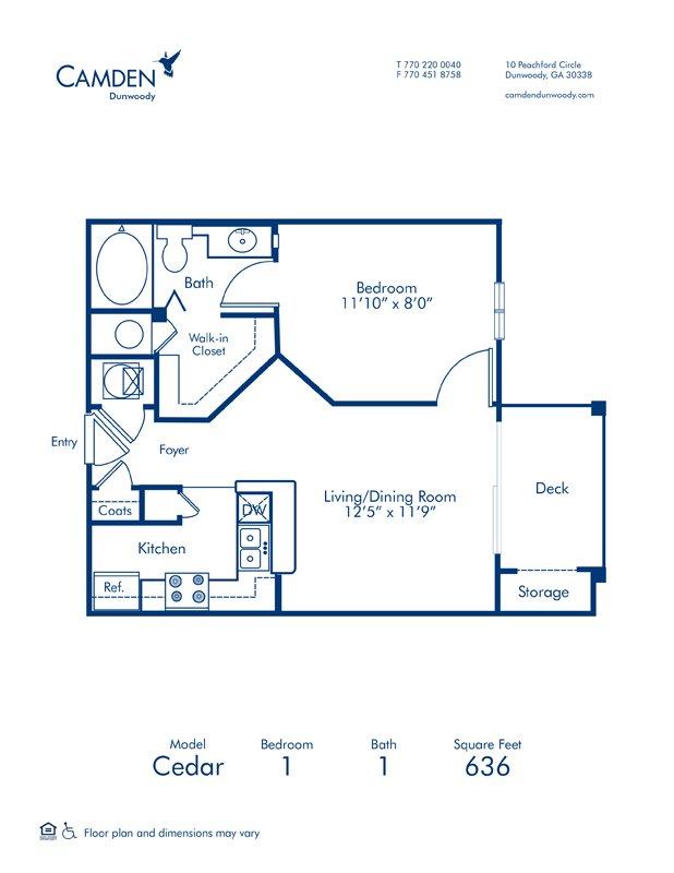 1 Bedroom 1 Bathroom Apartment for rent at Camden Dunwoody in Dunwoody, GA