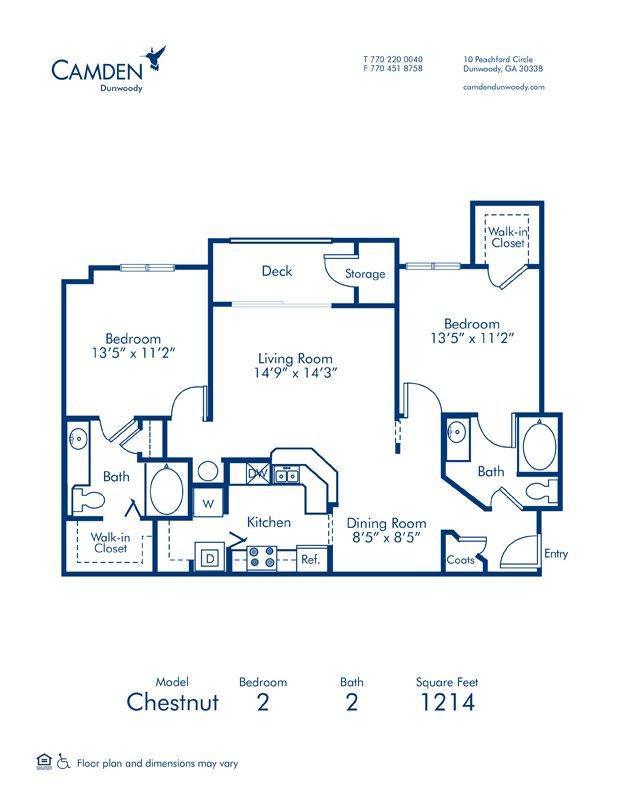 2 Bedrooms 2 Bathrooms Apartment for rent at Camden Dunwoody in Dunwoody, GA