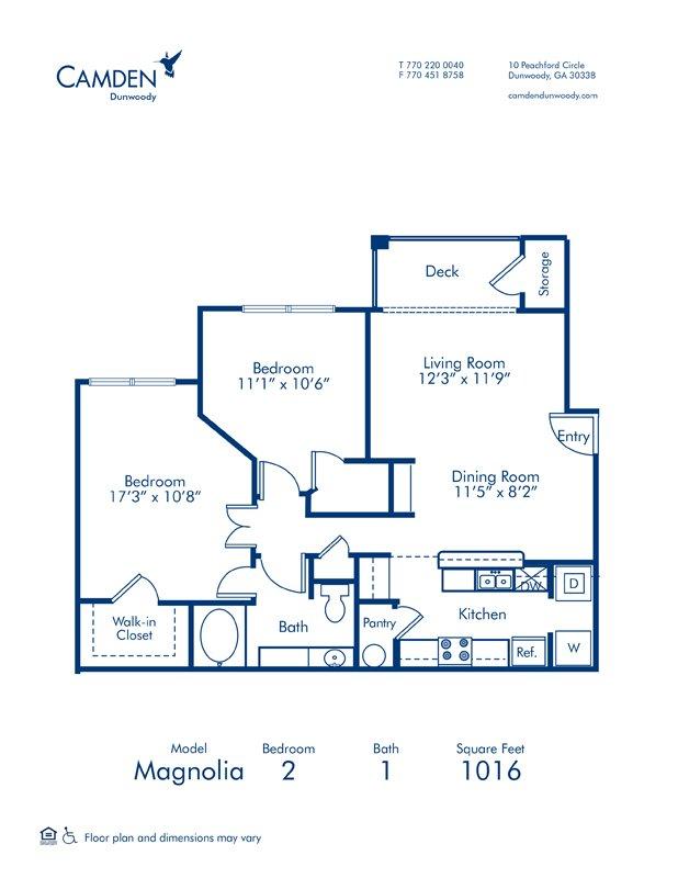 2 Bedrooms 1 Bathroom Apartment for rent at Camden Dunwoody in Dunwoody, GA