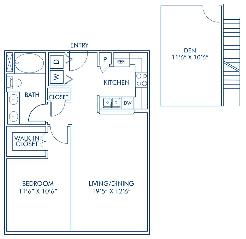1 Bedroom 1 Bathroom Apartment for rent at Camden Tuscany in San Diego, CA