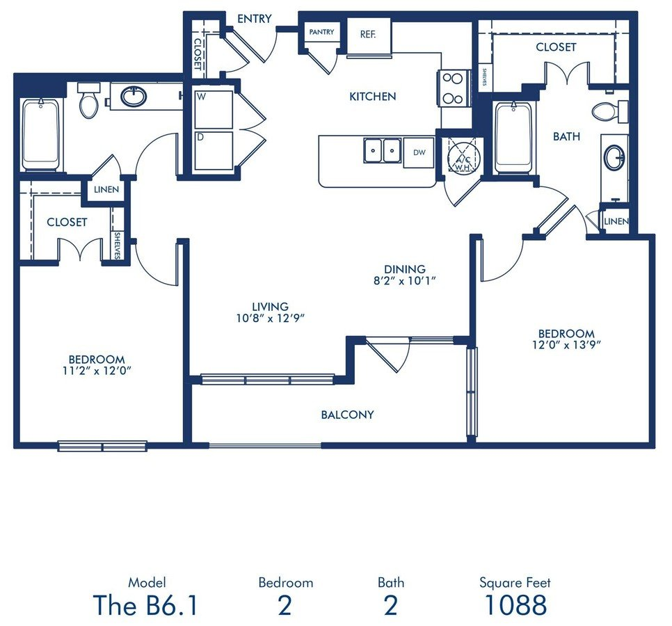 2 Bedrooms 2 Bathrooms Apartment for rent at Camden Victory Park in Dallas, TX