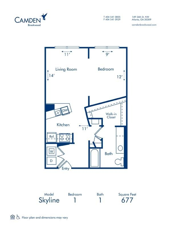 Studio 1 Bathroom Apartment for rent at Camden Brookwood in Atlanta, GA