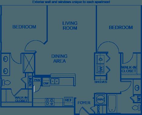 2 Bedrooms 2 Bathrooms Apartment for rent at Camden Midtown Atlanta in Atlanta, GA