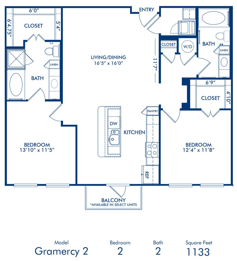 2 Bedrooms 2 Bathrooms Apartment for rent at Camden Belmont in Dallas, TX