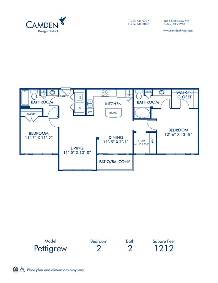 2 Bedrooms 2 Bathrooms Apartment for rent at Camden Design District in Dallas, TX