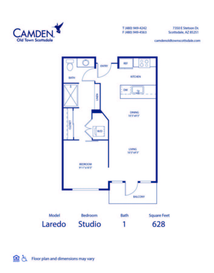 Studio 1 Bathroom Apartment for rent at Camden Old Town Scottsdale in Scottsdale, AZ