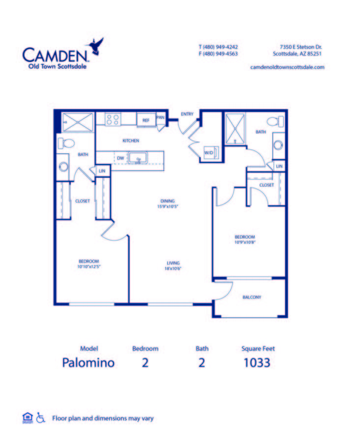 2 Bedrooms 2 Bathrooms Apartment for rent at Camden Old Town Scottsdale in Scottsdale, AZ