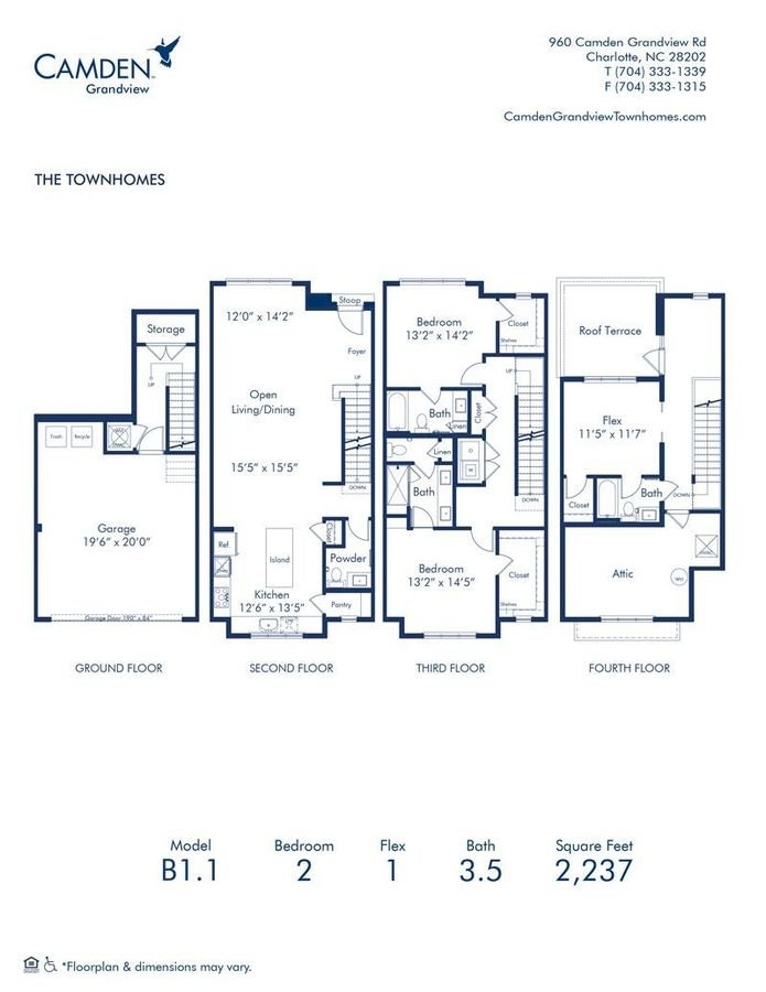 2 Bedrooms 3 Bathrooms Apartment for rent at Camden Grandview in Charlotte, NC