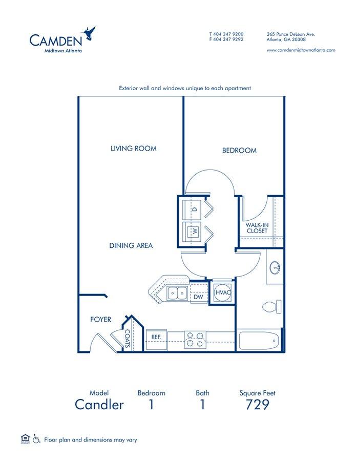 1 Bedroom 1 Bathroom Apartment for rent at Camden Midtown Atlanta in Atlanta, GA