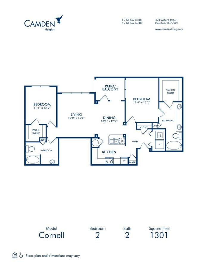 2 Bedrooms 2 Bathrooms Apartment for rent at Camden Heights in Houston, TX