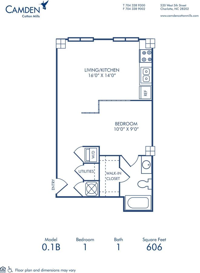 Studio 1 Bathroom Apartment for rent at Camden Cotton Mills in Charlotte, NC