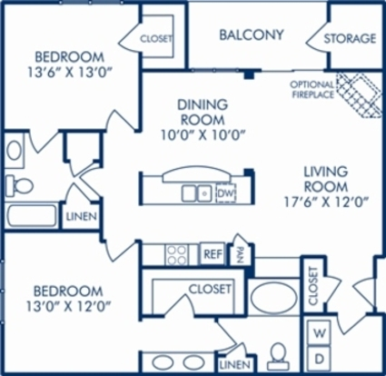 2 Bedrooms 2 Bathrooms Apartment for rent at Camden Manor Park in Raleigh, NC