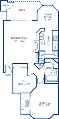 1 Bedroom 1 Bathroom Apartment for rent at Camden Gaines Ranch in Austin, TX