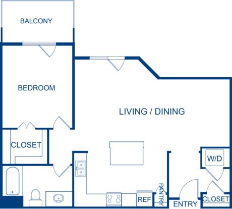 1 Bedroom 1 Bathroom Apartment for rent at Camden Belleview Station in Denver, CO