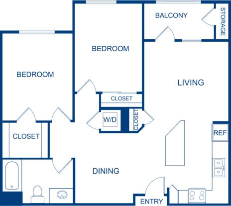 2 Bedrooms 1 Bathroom Apartment for rent at Camden Belleview Station in Denver, CO