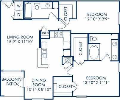 2 Bedrooms 2 Bathrooms Apartment for rent at Camden Greenway in Houston, TX