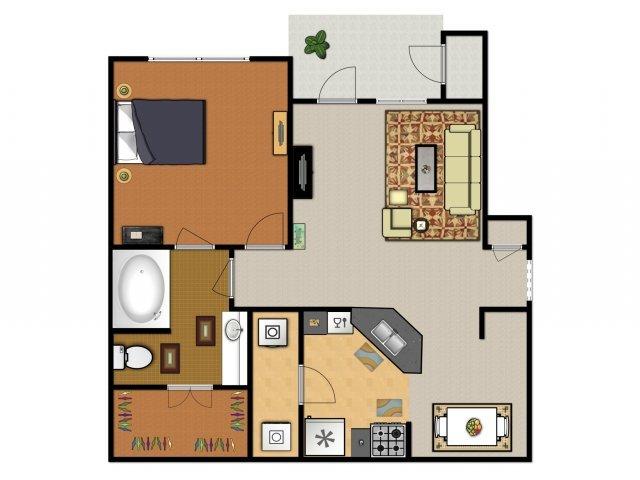 1 Bedroom 1 Bathroom Apartment for rent at Arboleda Apartment Homes in Cedar Park, TX