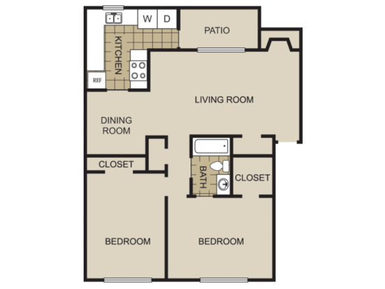 2 Bedrooms 1 Bathroom Apartment for rent at Lexington On The Green Apartment Homes in Raleigh, NC