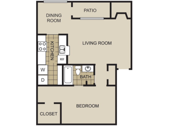 1 Bedroom 1 Bathroom Apartment for rent at Lexington On The Green Apartment Homes in Raleigh, NC