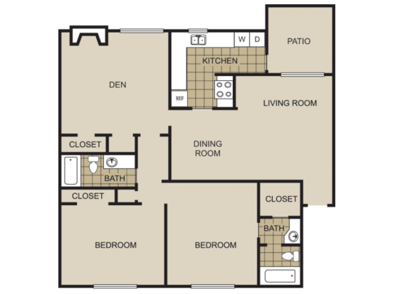 2 Bedrooms 2 Bathrooms Apartment for rent at Lexington On The Green Apartment Homes in Raleigh, NC